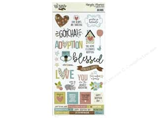 Simple Stories Collection Oh Baby Adoption Sticker 6 in. x 12 in. (12 pieces)