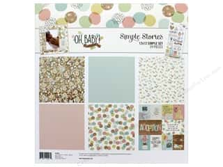 scrapbooking & paper crafts: Simple Stories Collection Oh Baby Adoption Collection Kit 12 in. x 12 in.