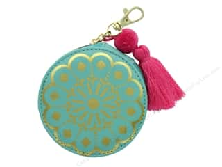 gifts & giftwrap: Lady Jayne Zip Pouch Teal Mandala Gold Foil