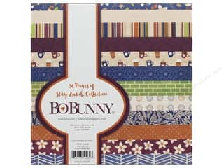 scrapbooking & paper crafts: Bo Bunny Collection Stay Awhile Paper Pad 6 in. x 6 in.