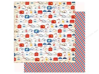 Clearance: Carta Bella Collection Passport Paper 12 in. x 12 in. Tourist Class (25 pieces)