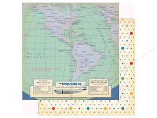 Clearance: Carta Bella Collection Passport Paper  12 in. x 12 in.  Bon Voyage (25 pieces)
