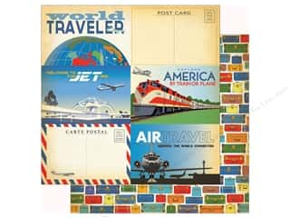 Clearance: Carta Bella Collection Passport Paper 12 in. x 12 in. Journaling Card 3 in. x 4 in. (25 pieces)