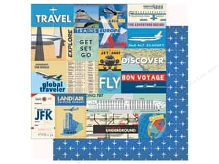 Clearance: Carta Bella Collection Passport Paper 12 in. x 12 in. Multi Journaling Cards (25 pieces)
