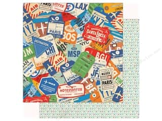 Clearance: Carta Bella Collection Passport Paper 12 in. x 12 in. World Traveler (25 pieces)