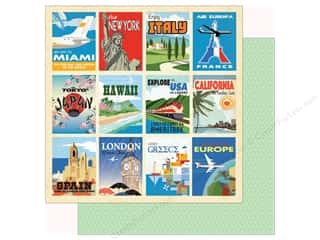Carta Bella Collection Passport Paper 12 in. x 12 in. Destination Cards (25 pieces)