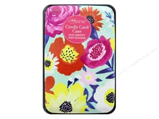 decorative floral: Lady Jayne Case Credit Card Teal Floral