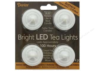 Darice Light Bright LED Tea Lights 4pc