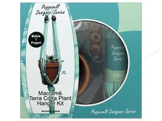 beading & jewelry making supplies: Pepperell Macrame Kit Designer Plant Hanger Terra Cotta