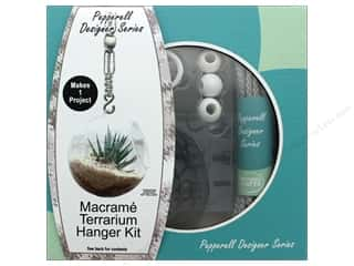 beading & jewelry making supplies: Pepperell Macrame Kit Designer Terrarium Hanger Gray