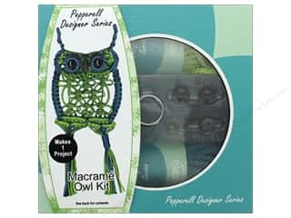 beading & jewelry making supplies: Pepperell Macrame Kit Designer Owl
