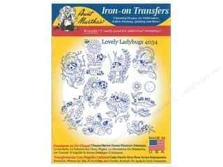 Aunt Martha's Hot Iron Transfer Blue Lovely Ladybugs