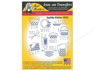 Aunt Martha's Hot Iron Transfer Black Sashiko Kitchen