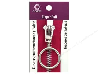 "Coats & Clark Zipper Pull Ring 1"" Silver"