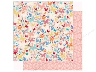 scrapbooking & paper crafts: Carta Bella Practically Perfect Paper 12 in. x 12 in. Beautiful Butterflies (25 pieces)