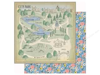 scrapbooking & paper crafts: Carta Bella Practically Perfect Paper 12 in. x 12 in. City Park (25 pieces)