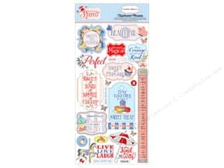 scrapbooking & paper crafts: Carta Bella Collection Practically Perfect Chipboard 6 in. x 12 in. Phrases