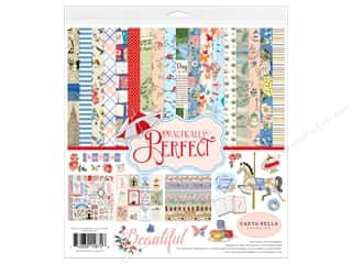 mint card stock: Carta Bella Collection Practically Perfect Collection Kit 12 in. x 12 in.