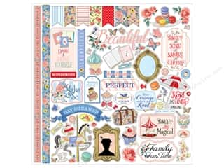 scrapbooking & paper crafts: Carta Bella Collection Practically Perfect Sticker 12 in. x 12 in. (15 sets)
