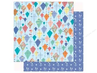 scrapbooking & paper crafts: Carta Bella Practically Perfect Paper 12 in. x 12 in. Dancing Kites (25 pieces)