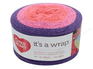 yarn & needlework: Red Heart It's A Wrap Yarn 1100 yd. #9258 Drama