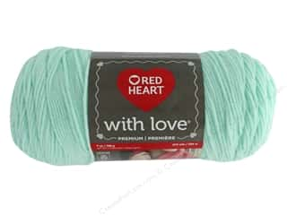 Red Heart With Love Yarn 370 yd. #1932 Minty
