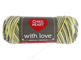 yarn: Red Heart With Love Yarn 230 yd. #1957 Lemon Drop