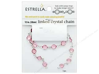 beading & jewelry making supplies: Solid Oak Chain Estrella 12 in.  Close Link 6 mm Silver/Rose