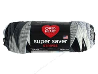 Red Heart Super Saver Yarn 236 yd. #4153 Newspaper Stripe