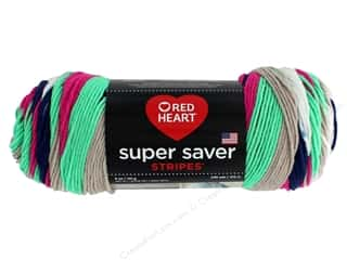 yarn & needlework: Red Heart Super Saver Yarn 236 yd. #4151 Derby Stripe