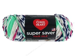 yarn & needlework: Red Heart Super Saver Fair Isle Yarn 236 yd. #7251 Derby