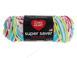 yarn & needlework: Red Heart Super Saver Fair Isle Yarn 236 yd. #7245 Candy
