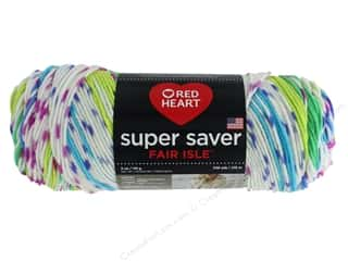 yarn & needlework: Red Heart Super Saver Fair Isle Yarn 236 yd. #7255 Parrott