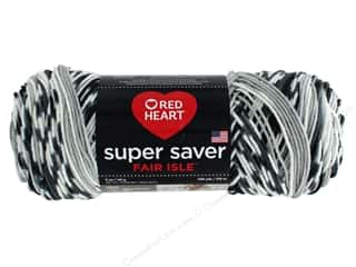 Red Heart Super Saver Fair Isle Yarn 236 yd. #7254 Newspaper