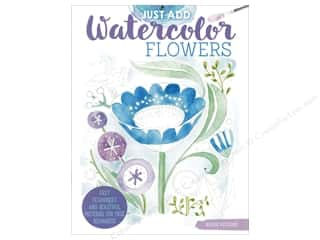 Design Originals Just Add Watercolor Flower Book