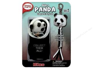 projects & kits: Pepperell Kit Rexheads Keychain Panda