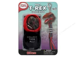 beading & jewelry making supplies: Pepperell Kit Rexheads Keychain T-Rex