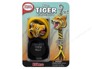 beading & jewelry making supplies: Pepperell Kit Rexheads Keychain Tiger