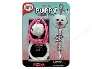 beading & jewelry making supplies: Pepperell Kit Rexheads Keychain Puppy