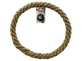 craft & hobbies: Pepperell Craft Rope Wreath Jute 12 in.