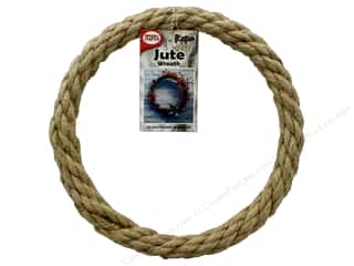 craft & hobbies: Pepperell Craft Rope Wreath Jute 8 in.