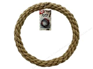 craft & hobbies: Pepperell Craft Rope Wreath Jute 10 in.