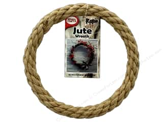 craft & hobbies: Pepperell Craft Rope Wreath Jute 6 in.