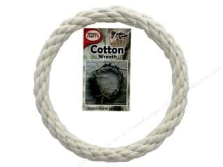 craft & hobbies: Pepperell Craft Rope Wreath Cotton Cord 6 in.