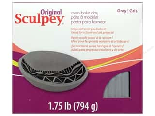 Polymer Clay: Sculpey Original Clay 1.75 lb Grey