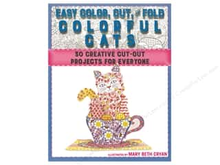Racehorse Publishing Easy Color Cut & Fold Colorful Cats Book