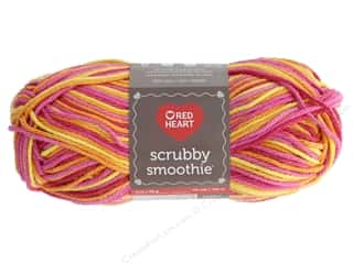 yarn & needlework: Red Heart Scrubby Smoothie Yarn 131 yd. #2154 Zesty