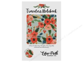 traveler's notebook: Echo Park Collection Travelers Notebook Mint Floral