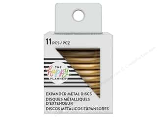 scrapbooking & paper crafts: Me&My Big Ideas Collection Create 365 Happy Planner Discs Metal Expander Gold