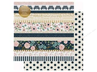 Echo Park Collection Just Married Paper 12 in. x 12 in. Border Strips (25 pieces)